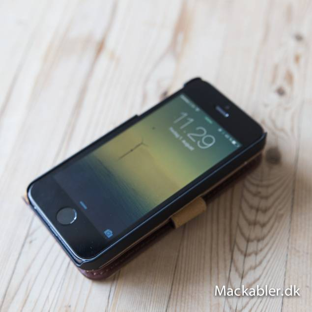 Image of   iPhone læder cover kortholder med klap - Farve - Sort, iPhone - iPhone 7 & iPhone 8