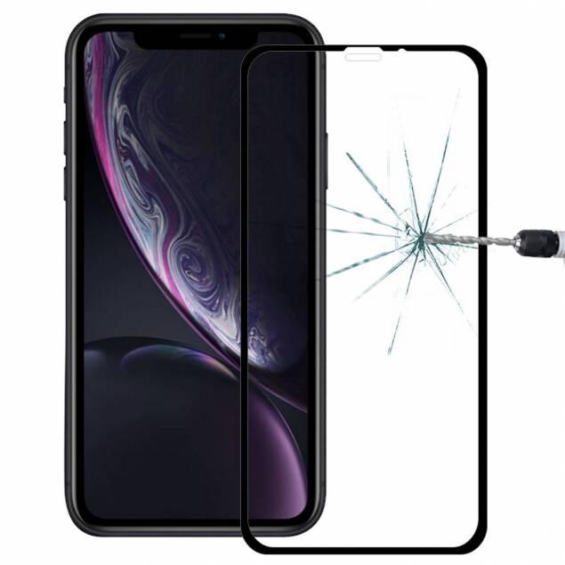 Beskyttelsesglas til iPhone Xr med sort kant 3d