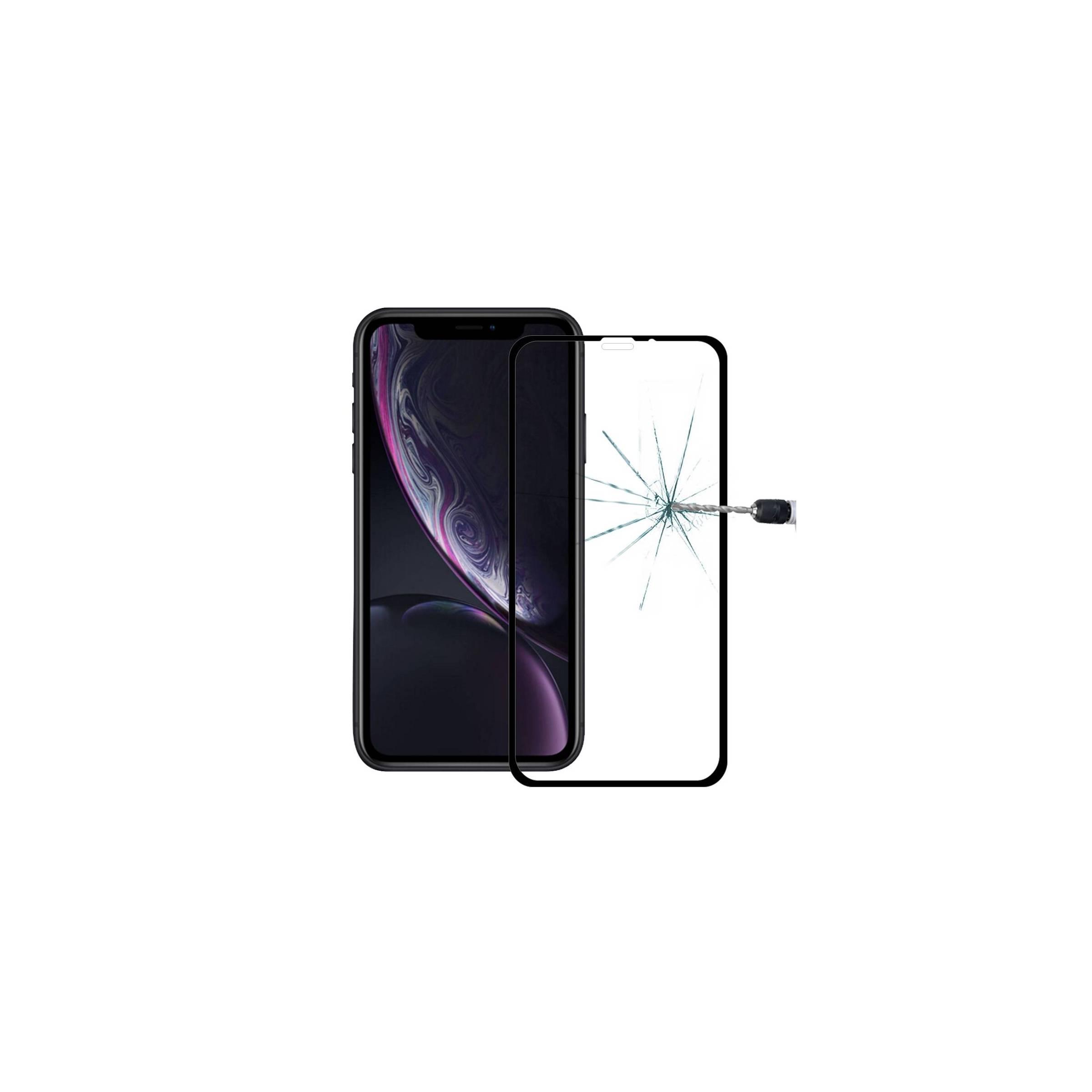 enkay – Beskyttelsesglas til iphone 11 / xr med sort kant 3d fra mackabler.dk