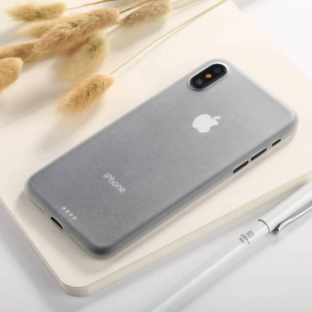 Image of   iPhone X/Xs tyndt mat Polypropylen cover gennemsigtigt - Farve - Gennemsigtig