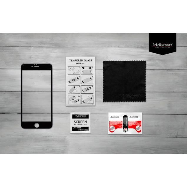 MyScreen Edge iPhone 7/8 sort - Afrundede kanter i 2,5D Tykkelse: 0,33mm Ridsefasthed: 9H Farve: Hvid Indpakning: 165mm x 100mm x 10mm