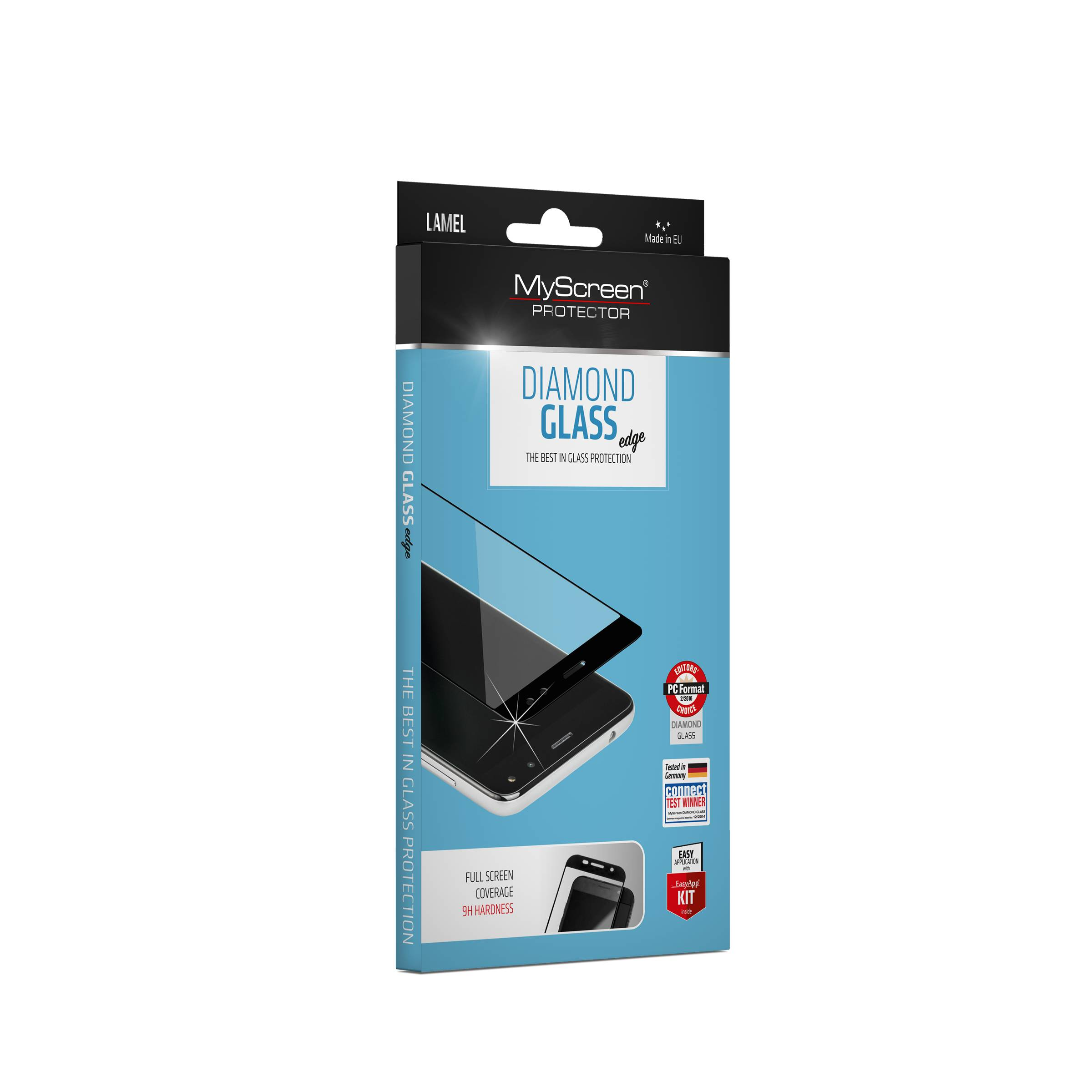Myscreen edge iphone 7/8 sort beskyttelsesglas fra myscreen på mackabler.dk