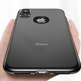 Totu tyndt silikone cover til iPhone Xr i Sort/gennemsigtigt