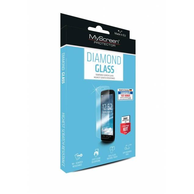 MyScreen Diamond HTC One A9 beskyttelsesglas - MyScreen 9H hærdet beskyttelsesglas til HTC One A9. Kommer med en fedtafvisende overflade og beskytter mod ridser og slag. MyScreen Diamond er let at montere og bevarer skærmens fulde funktionalitet.Indeholder: MyScreen Diamond glas, applikationssæt, våd
