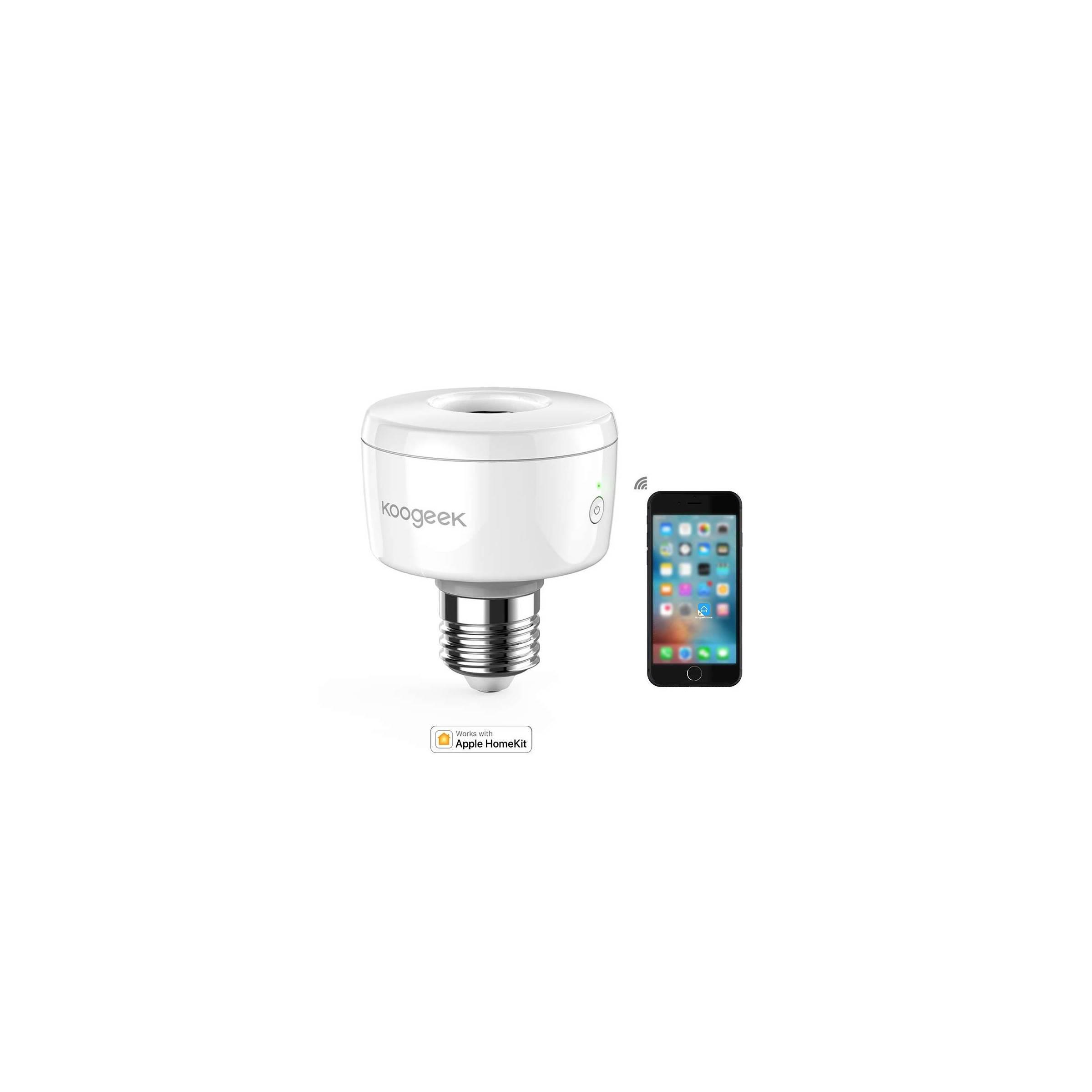 koogeek – Koogeek wi-fi smart e26 socket med homekit, alexa og google home (sk1) fra mackabler.dk
