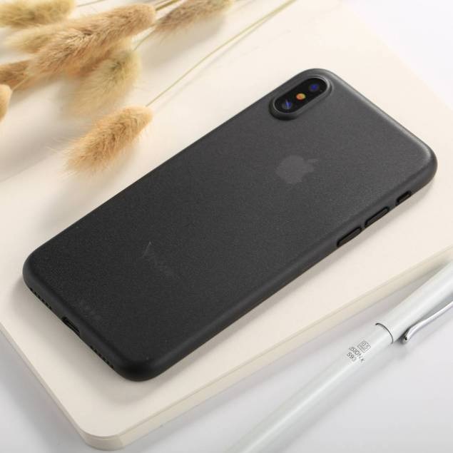 Image of   iPhone X/Xs tyndt mat Polypropylen cover - Farve - Sort
