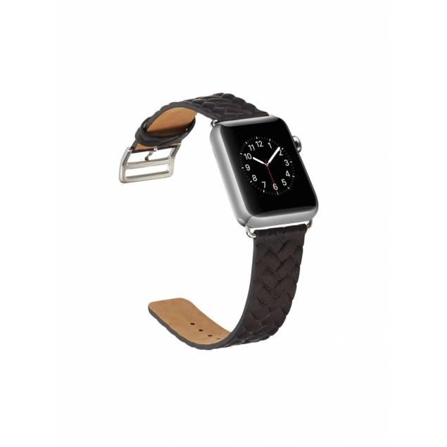 Image of   Flettet kunst læder rem til Apple watch 38mm og 40mm - Størrelse - 38mm & 40mm