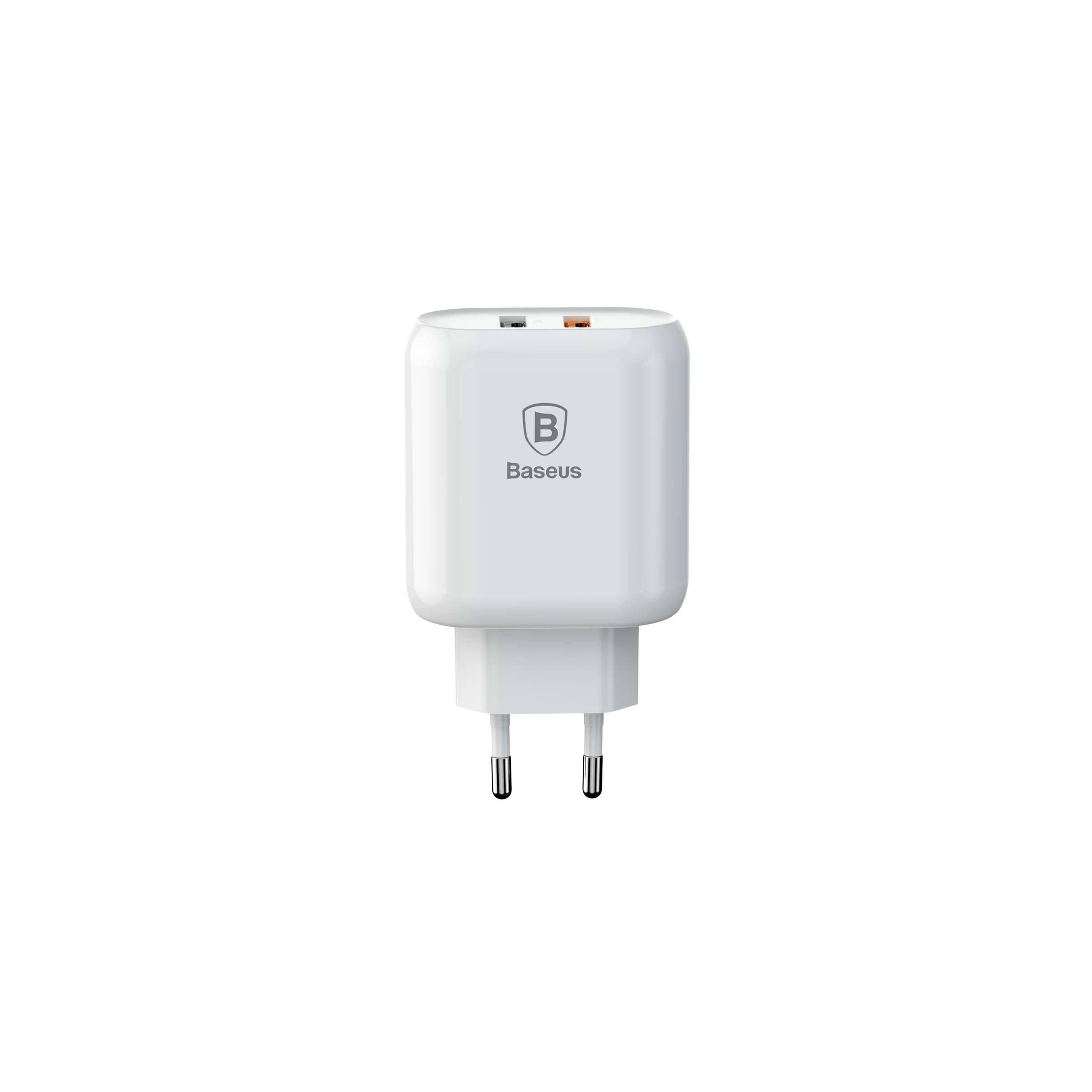 baseus – Baseus iphone/ipad usb oplader qc 2.0 x2 (23w ialt) fra mackabler.dk