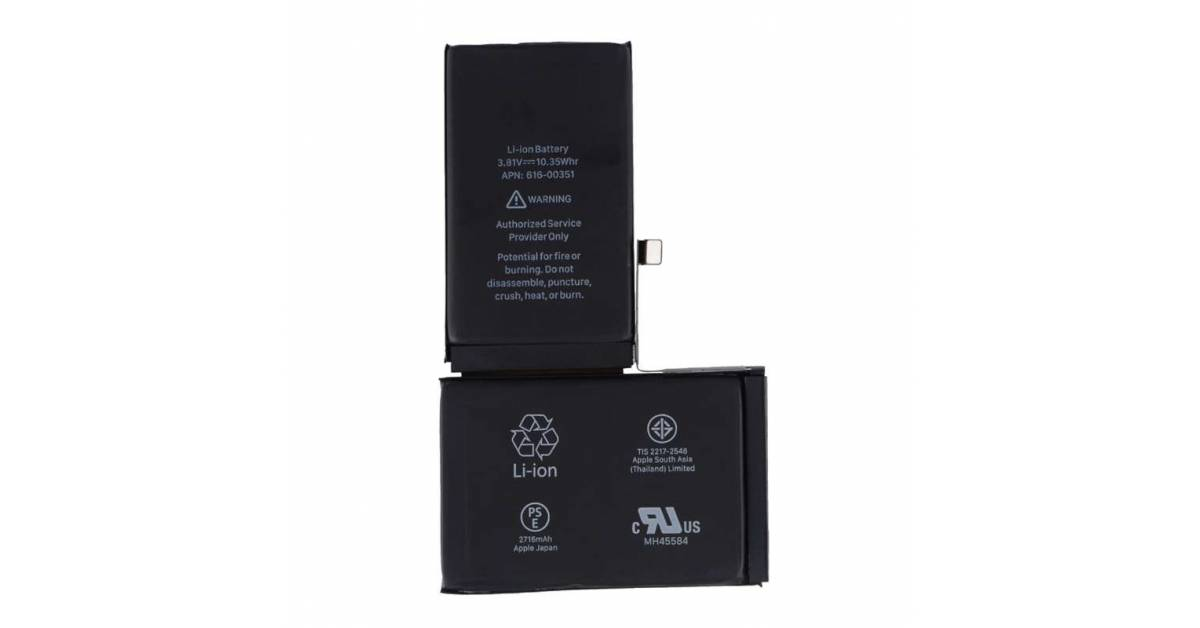 f7cd22bfb iPhone X batteri 2716 mAh 10,35 Wh Originalt