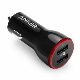 Billede af Anker PowerDrive 2 24W 2-Port biloplader sort
