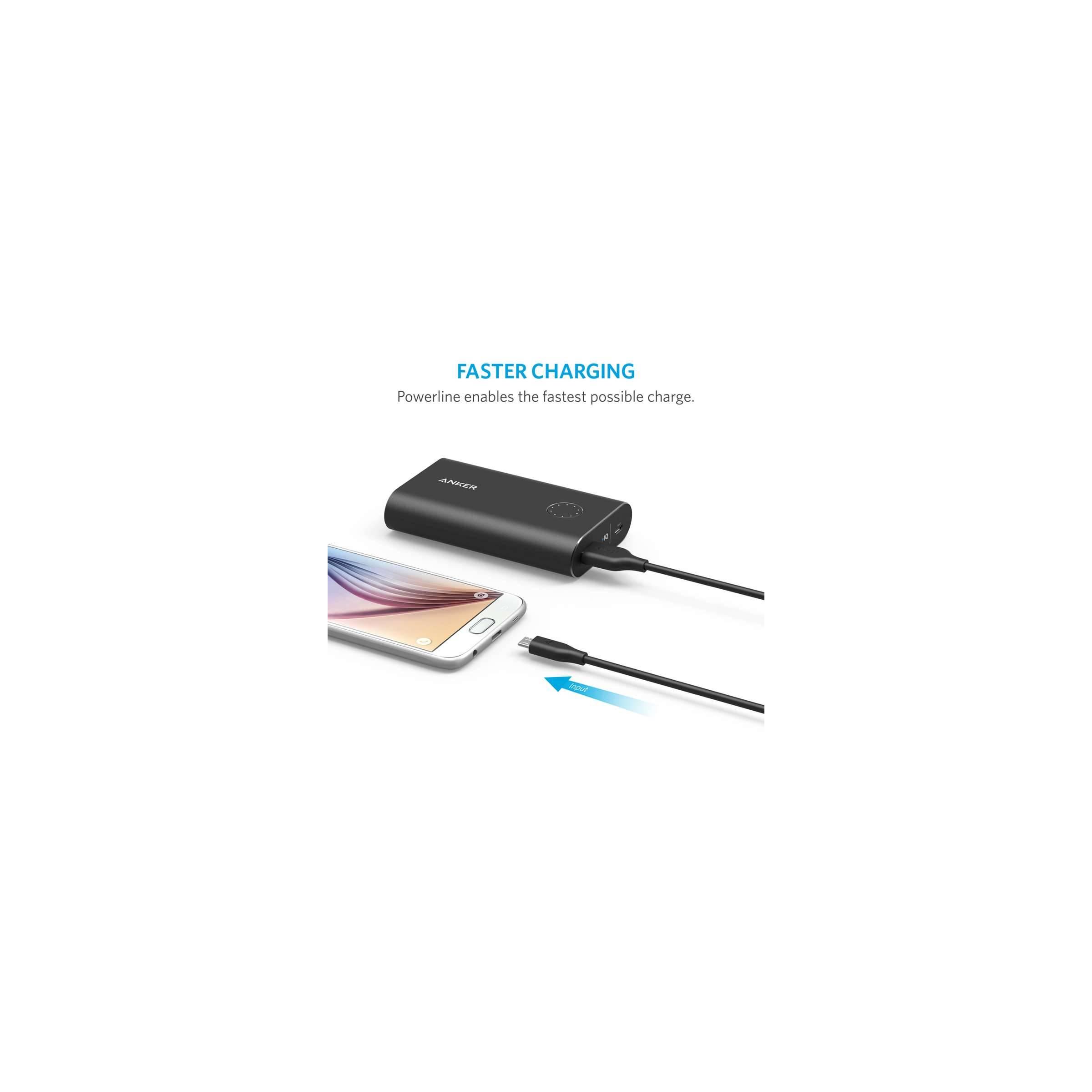 anker – Anker powerline micro-usb kabel 0,9m/1,8m sort længde 1,8m / 180cm / 6ft fra mackabler.dk