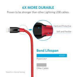 Anker PowerLine+ MFI Lightning kabel med lomme