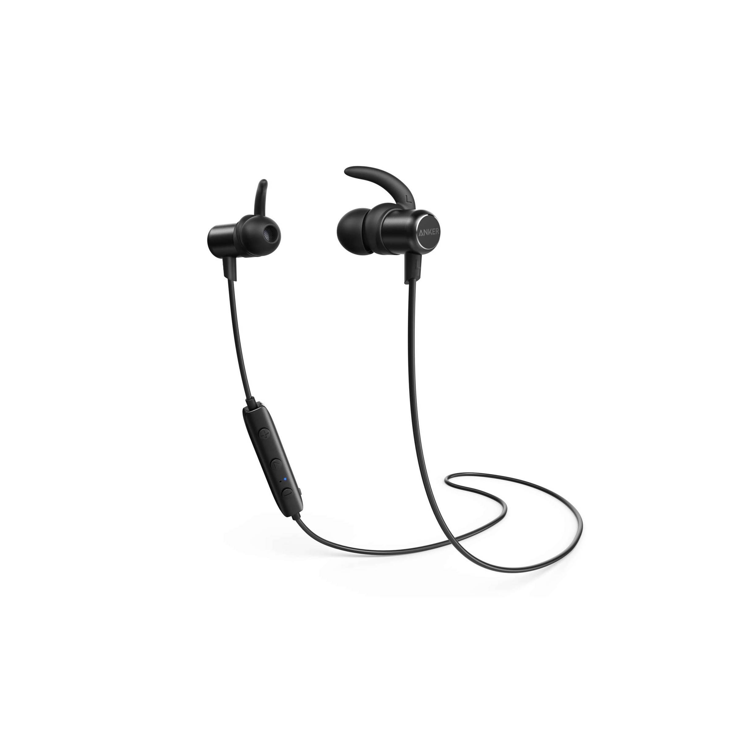 Anker soundbuds slim bluetooth sort in ear headset til iphone osv fra anker fra mackabler.dk