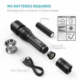 Anker LC90 Flashlight 900 lumen sort