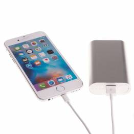 Image of   GreyLime Power Tough 5200mAh Powerbank til iPhone Farve Sølv farve