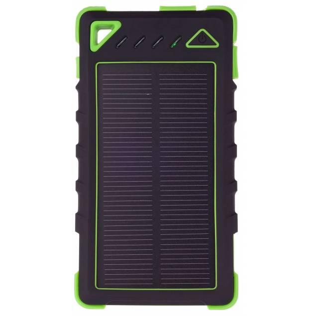 GreyLime Powerbank med solcelle 8000mAh Batteri 1,2W solcelle - Farve - Gul