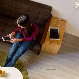 Image of   RAVPower 2x MFI Lightning kabel-pakke (0,9m + 1,8m) Farve Hvid