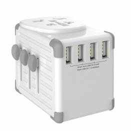 Zikko Worldwide Travel Smart Adapter 4 USB Port