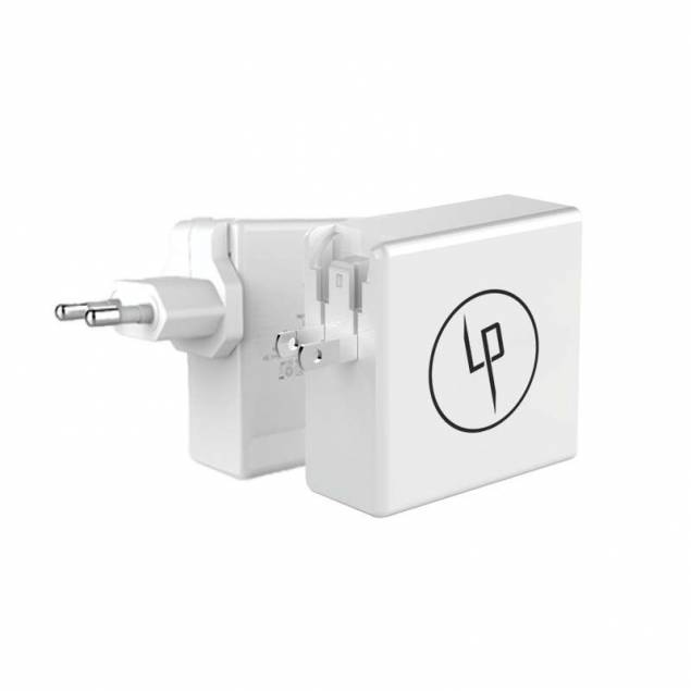 LIFEPOWR 65W USB-C og QC 3.0 oplader Macbook Pro oplader