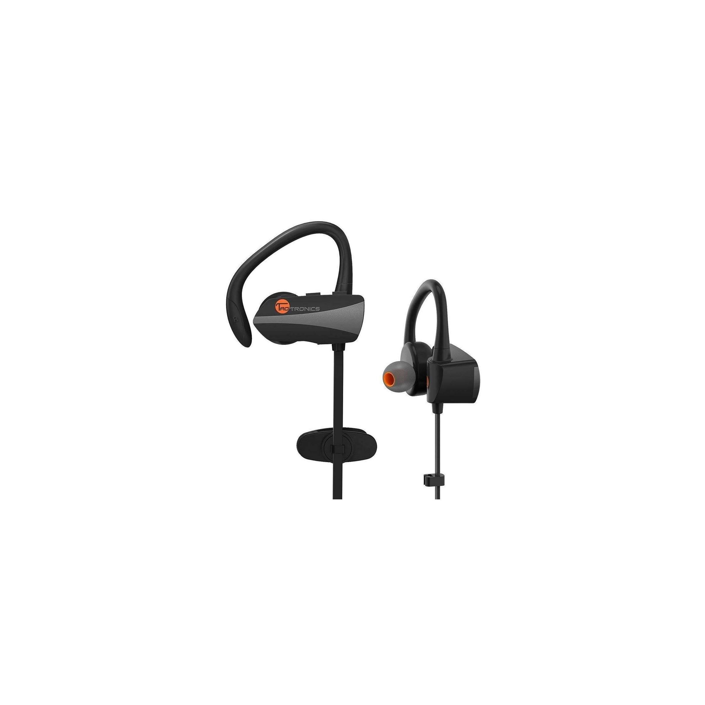 Taotronics bluetooth trådløse in-ear sport headphones m. bøjle fra taotronics på mackabler.dk