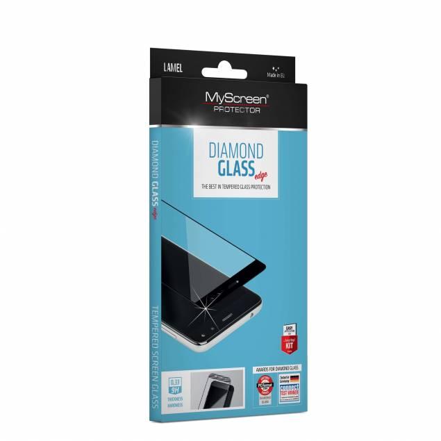 MyScreen Edge iPhone XS Max sort beskyttelsesglas - MyScreen Edge fullcover beskyttelsesglas til iPhone Xs Max. Kommer med en fedtavisende overflade og beskytter mod ridser og slag. MyScreen Fullcover glas er let at montere og bevarer skærmens fulde funktionalitet.Indeholder: MyScreen Diamond Fullcover gl