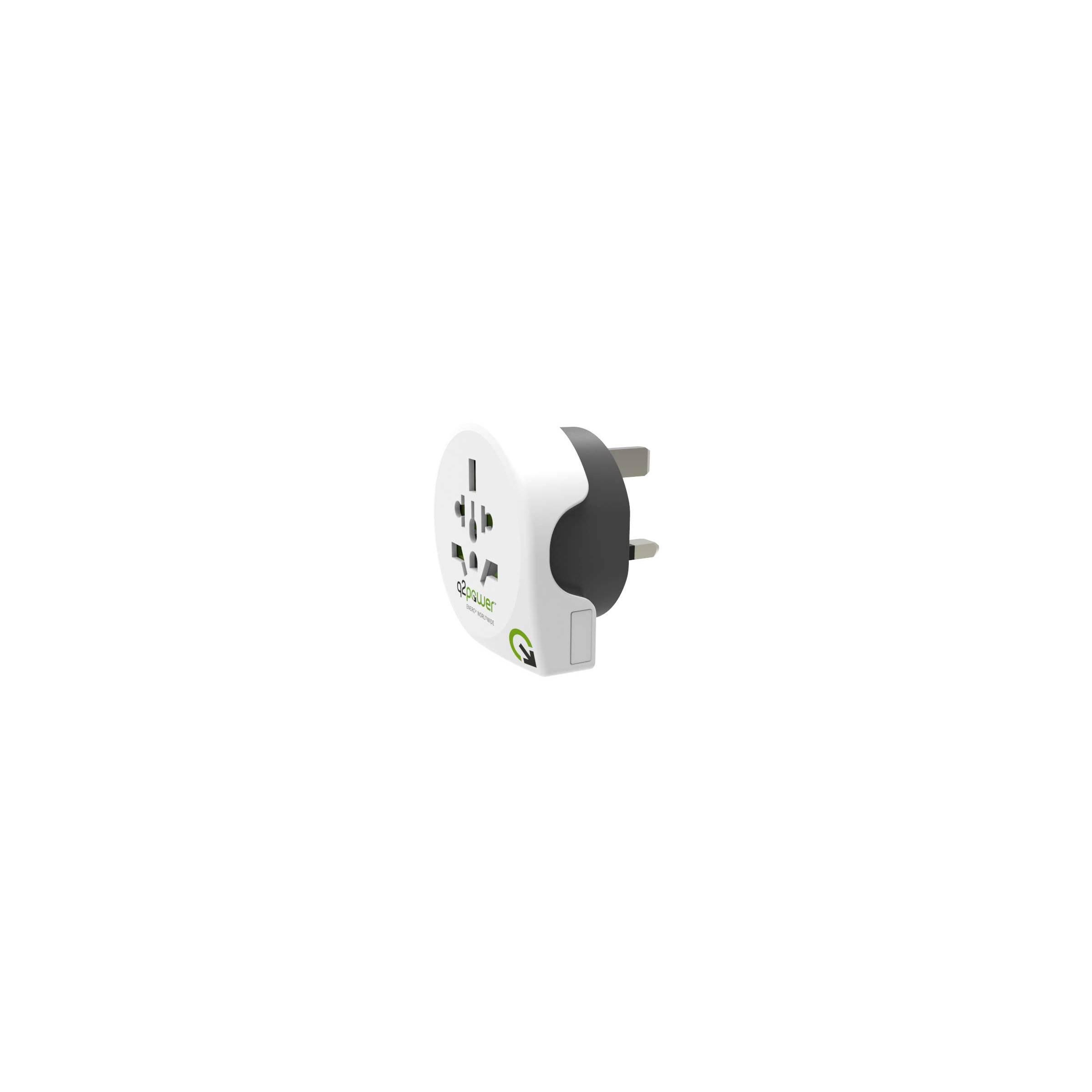 q2power Q2power eu til uk/eu rejse adapter version engelsk adapter(uk) på mackabler.dk