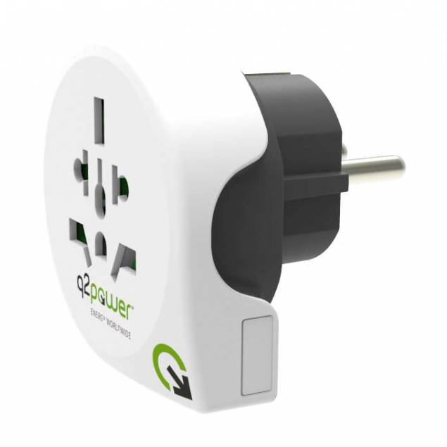 Q2Power Eu til UK/EU rejse adapter