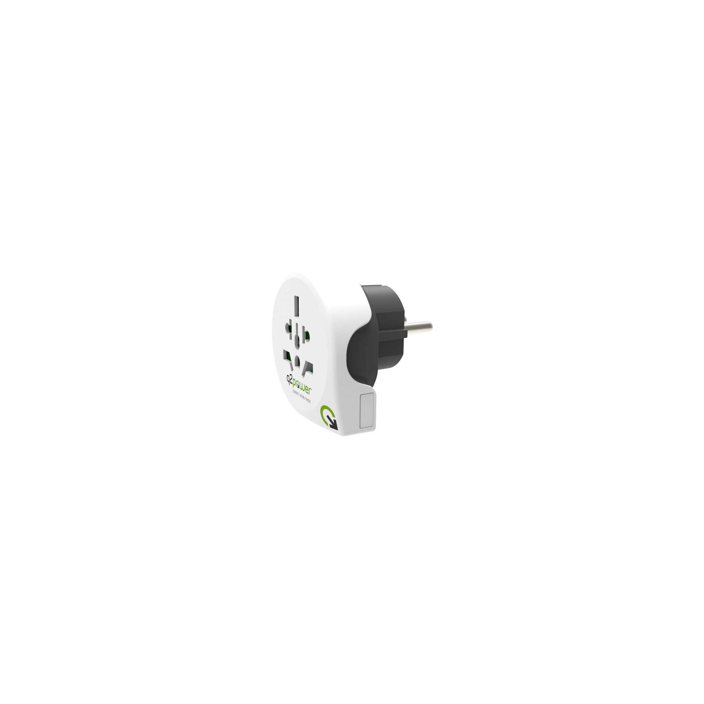q2power – Q2power eu til uk/eu rejse adapter version europæisk stik fra mackabler.dk