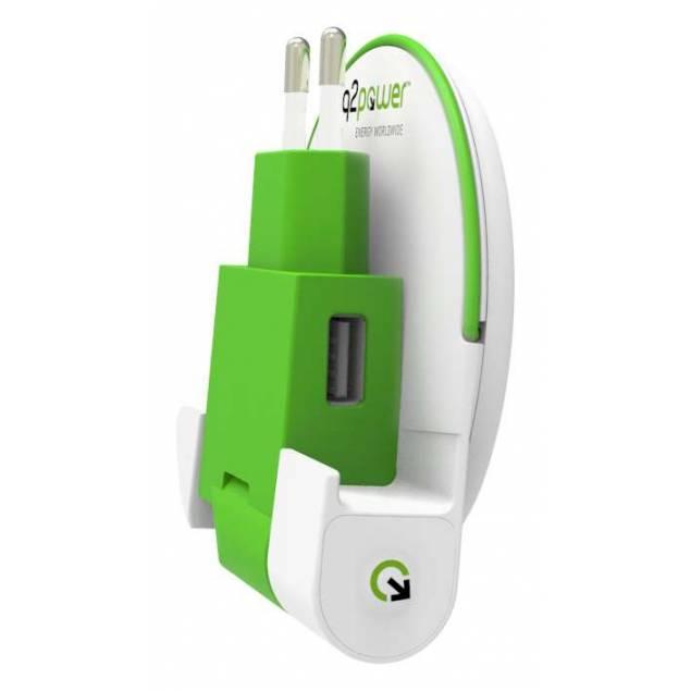 Q2Power USB-C Dock med powerbank og oplader