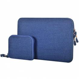 Premium Macbook Sleeve I blå til Mac's i 13""