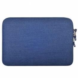 "Premium Macbook Sleeve I blå til Mac's i 13"""