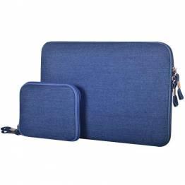 "Premium Macbook Sleeve I blå til Mac's i 15"""