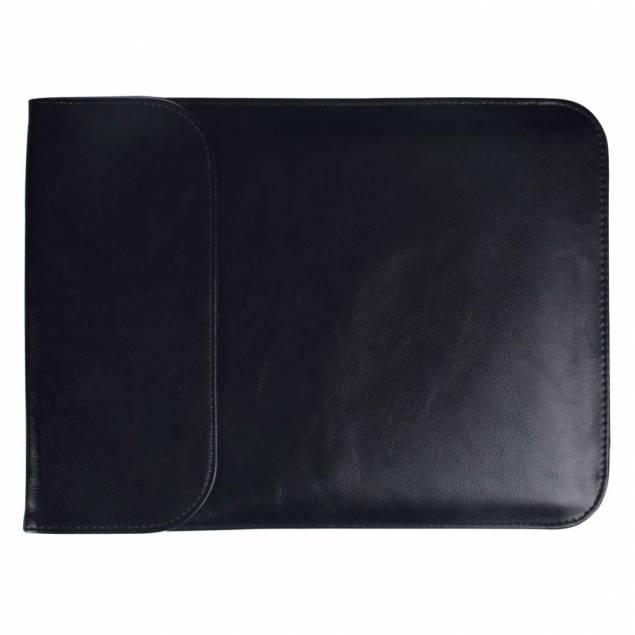 """Luksus sleeve 15,4"""" Ultra tyndt i sort kunstlæder til MacBook Pro 2016+"""