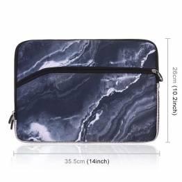 """Sleeve til 13,3"""" bærbare Mac/PC i mørkt marmor"""