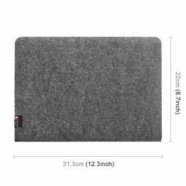 """Simpelt filt Case til macbook Pro 13"""" mørkegrå"""