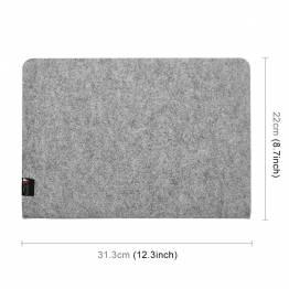 "Simpelt filt Case til macbook Pro 13"" lysegrå"