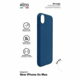 Aiino Strongly Premium cover til iPhone Xs Max Sort/blå