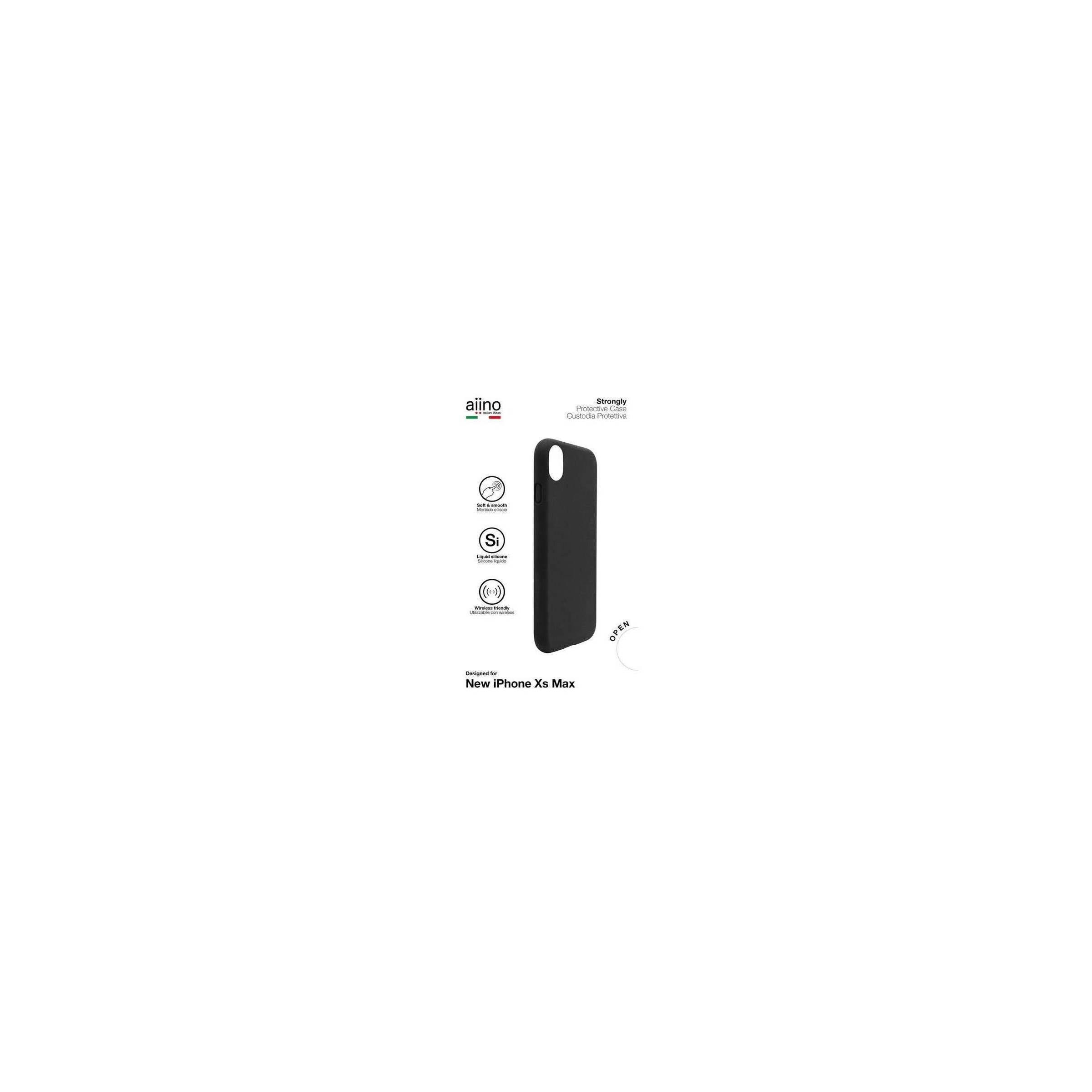 aiino Aiino strongly premium cover til iphone xs max sort/blå farve sort fra mackabler.dk