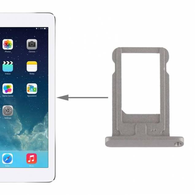 """iPad Air 2/Pro 9,7"""" SIM tray I Alu grå/sølv/guld - Farve - Space grey - iPad Air 2/Pro 9,7"""" SIM tray I Alu grå/sølv/guld er reparations udstyr til iPad der giver dig en ny sim kort holder til iPad. Dette reparations udstyr til iPad er produceret af Selek og er lavet i præcis samme stil som den oprindelige del fra Apple."""