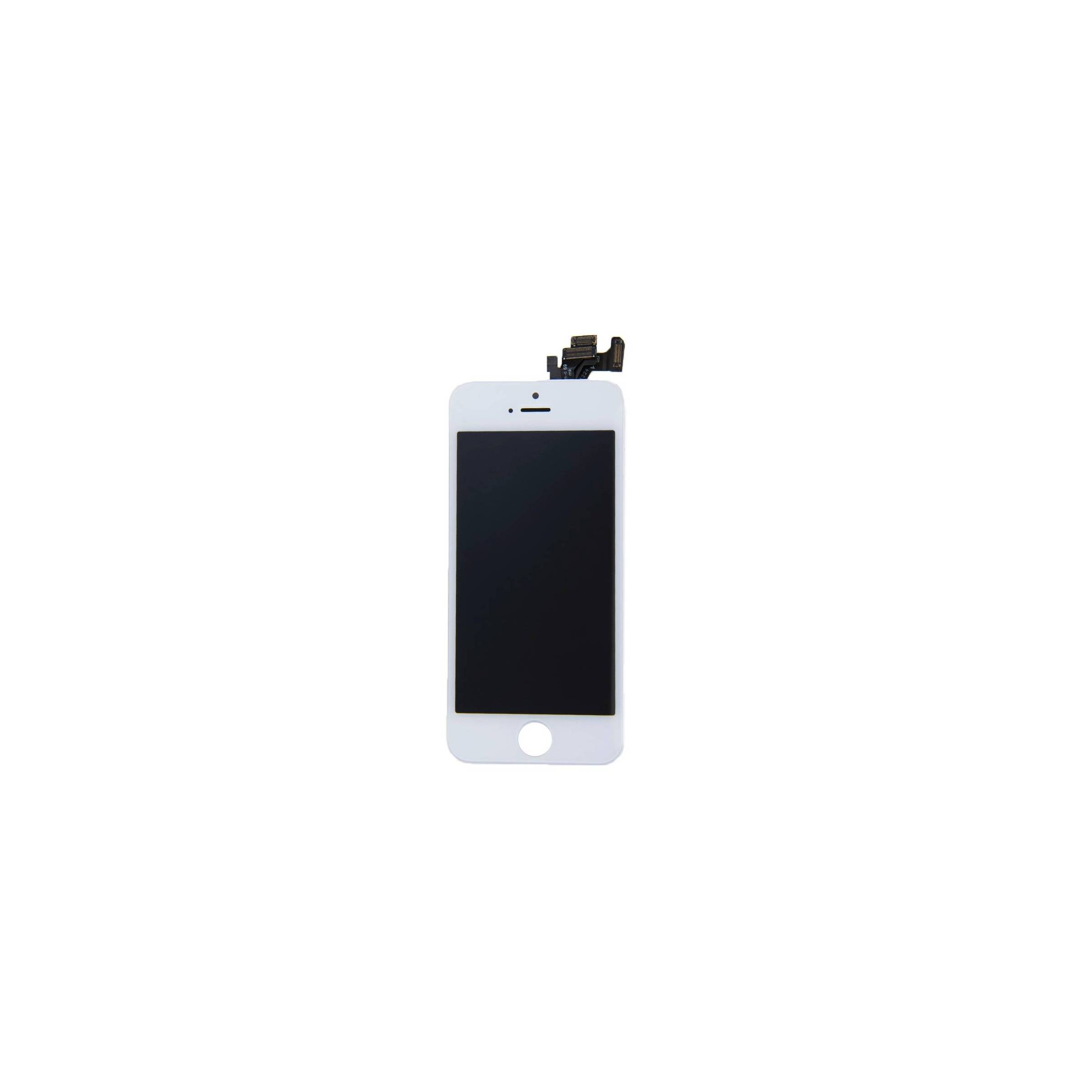 Iphone 5 skærm i semi original kvalitet farve hvid fra sinox fra mackabler.dk