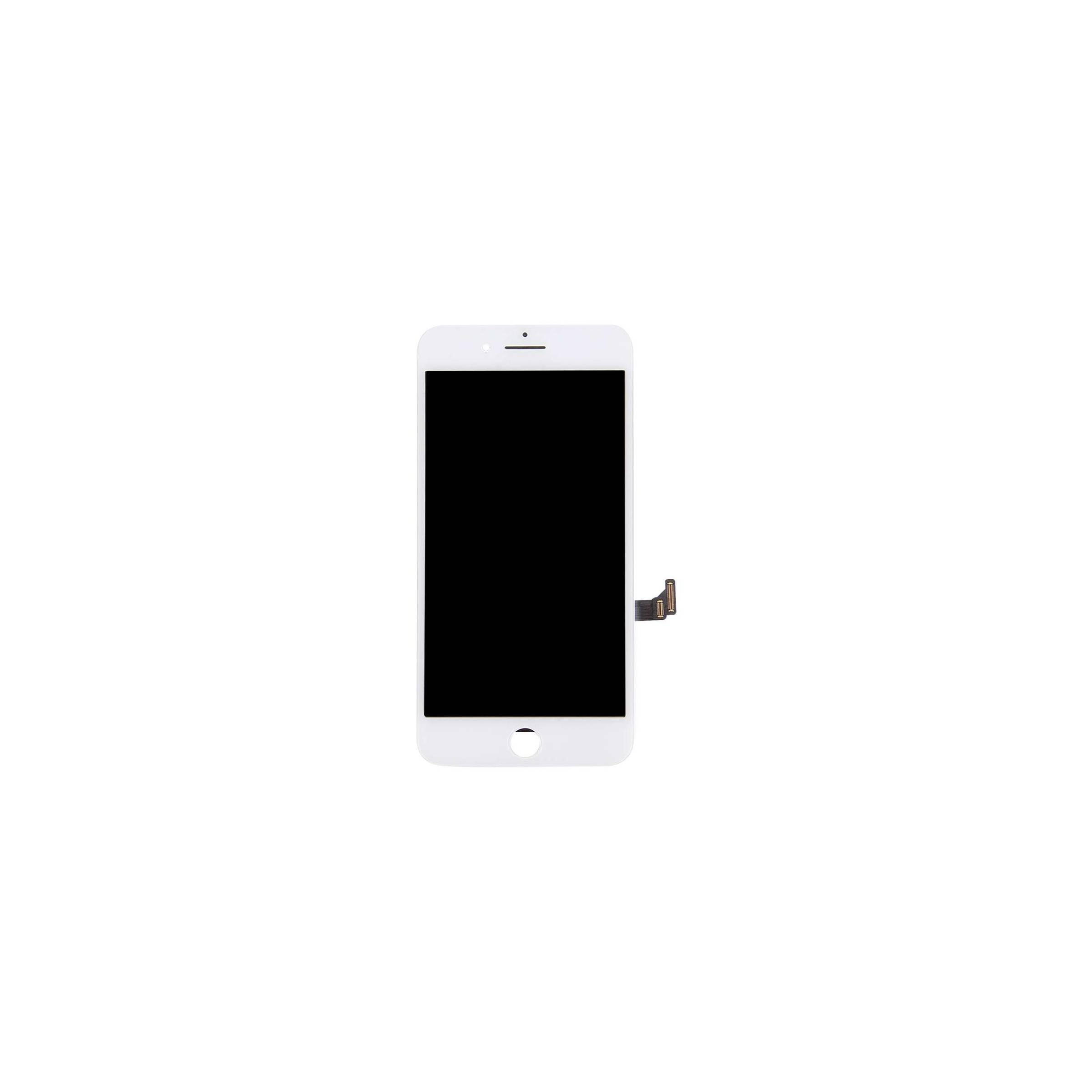 sinox Iphone 7 plus skærm i semi original kvalitet farve hvid på mackabler.dk