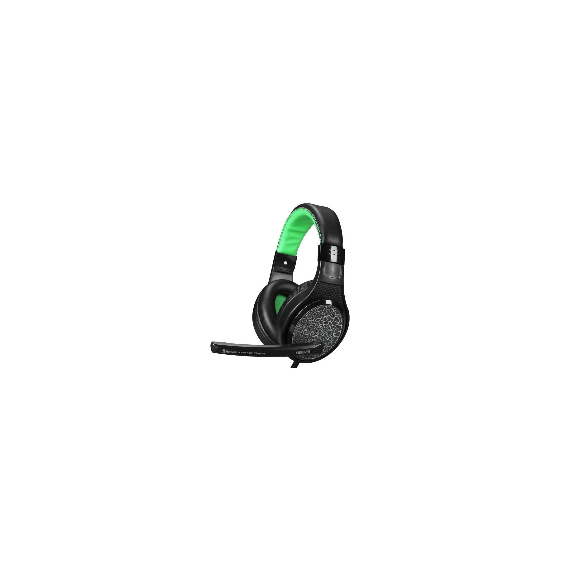 scorpion by marvo – Scorpion h8323 gaming headset sort og grøn med mic på mackabler.dk