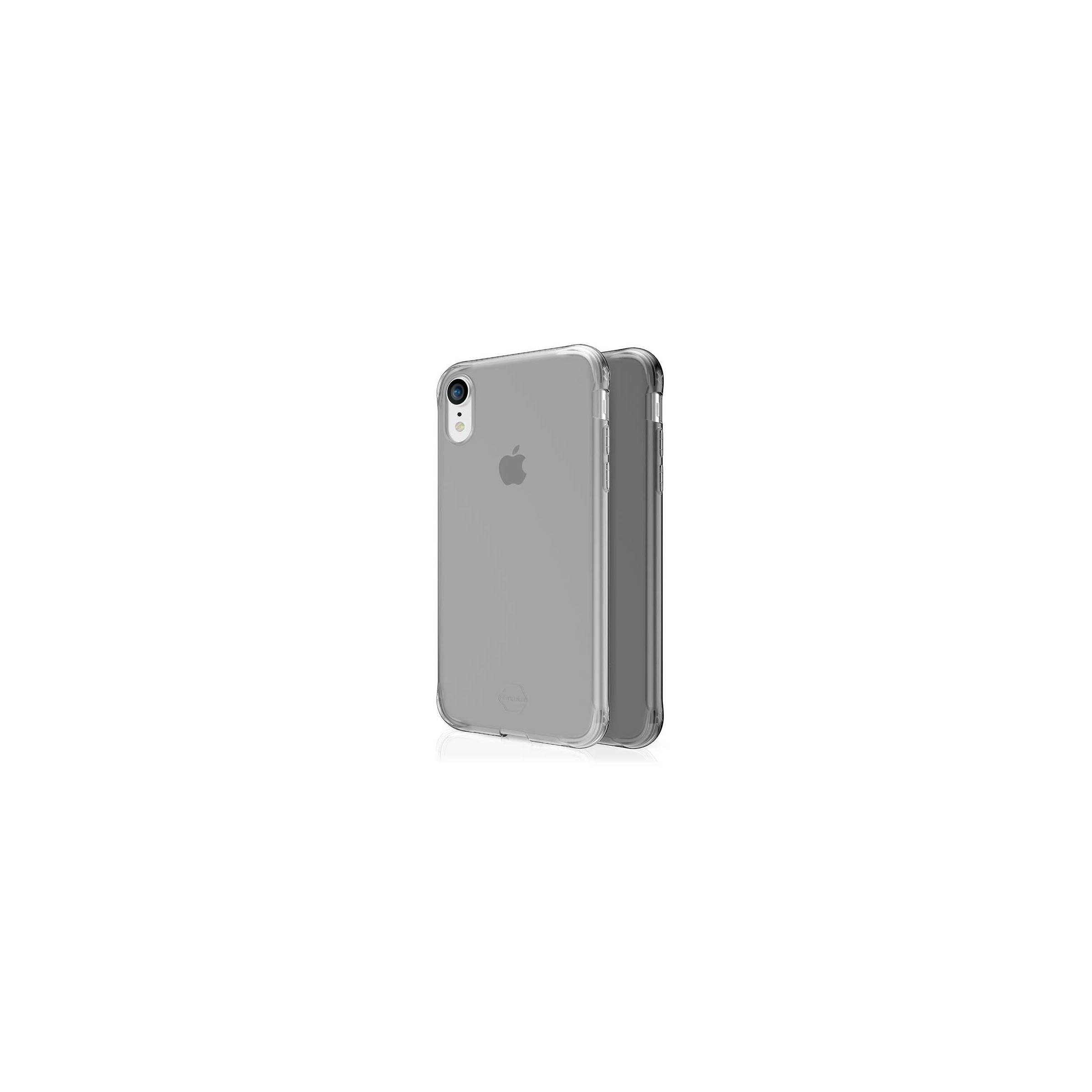Itskins slim silikone protect gel iphone xr cover dobbelt 2x pakke farve klar & sort fra itskins fra mackabler.dk