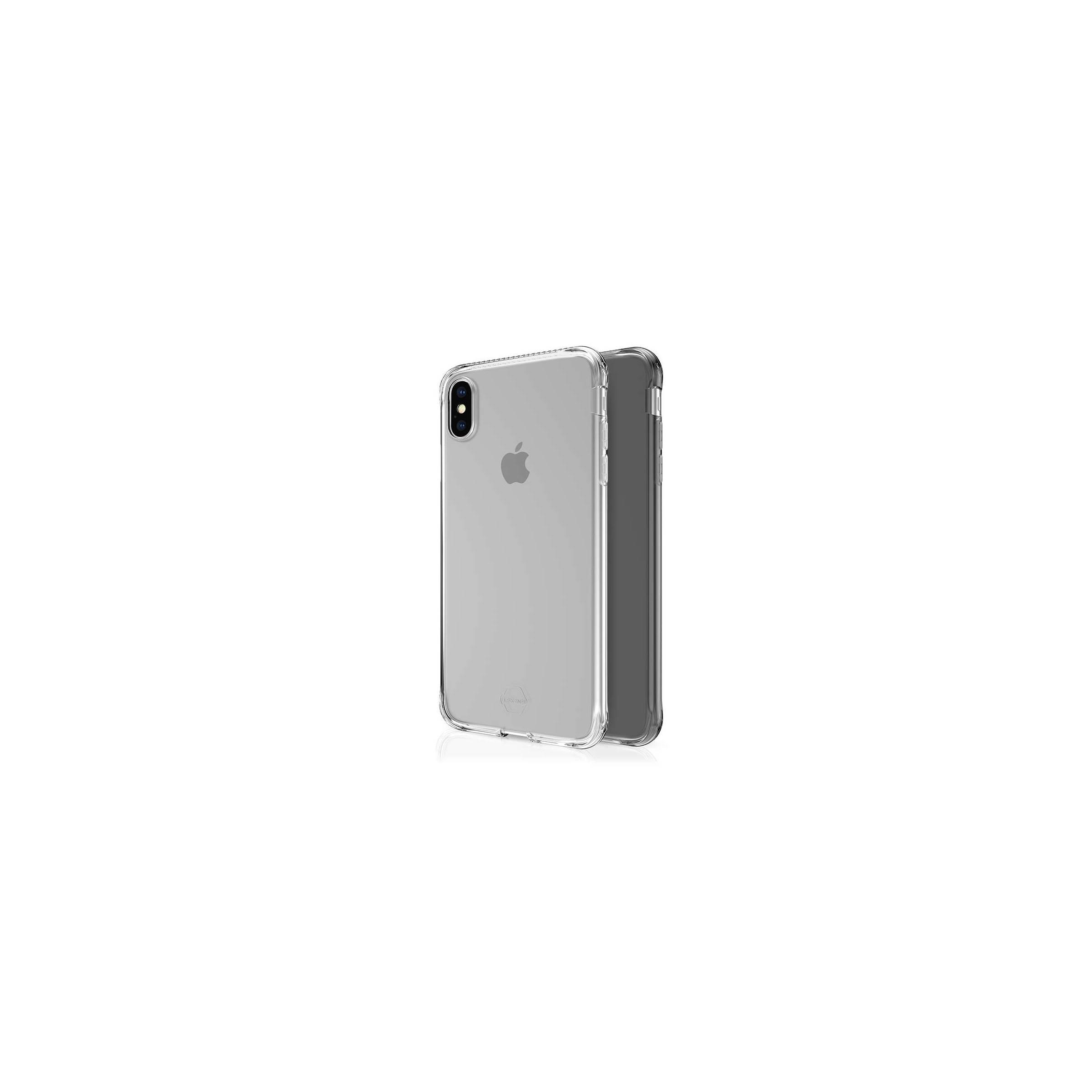 Itskins slim silikone protect gel iphone xs max cover dobbelt 2x pakke farve klar & sort fra itskins fra mackabler.dk