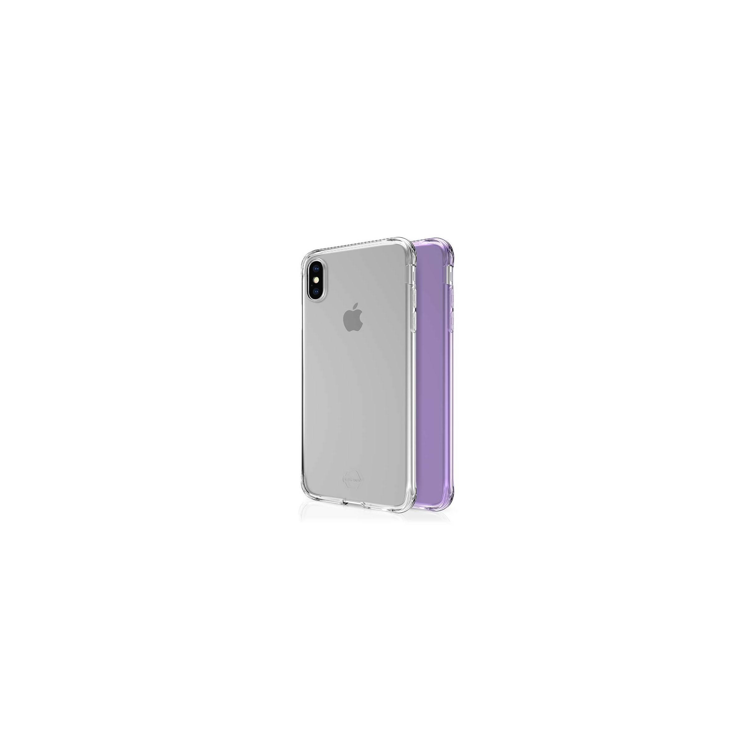 itskins Itskins slim silikone protect gel iphone xs max cover dobbelt 2x pakke farve klar & lyse lilla fra mackabler.dk