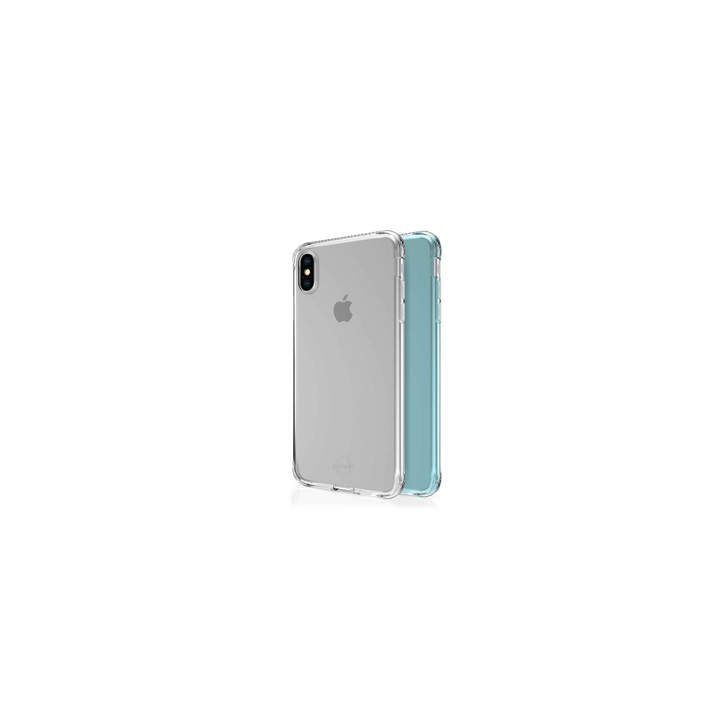 itskins Itskins slim silikone protect gel iphone xs max cover dobbelt 2x pakke farve klar & grøn på mackabler.dk