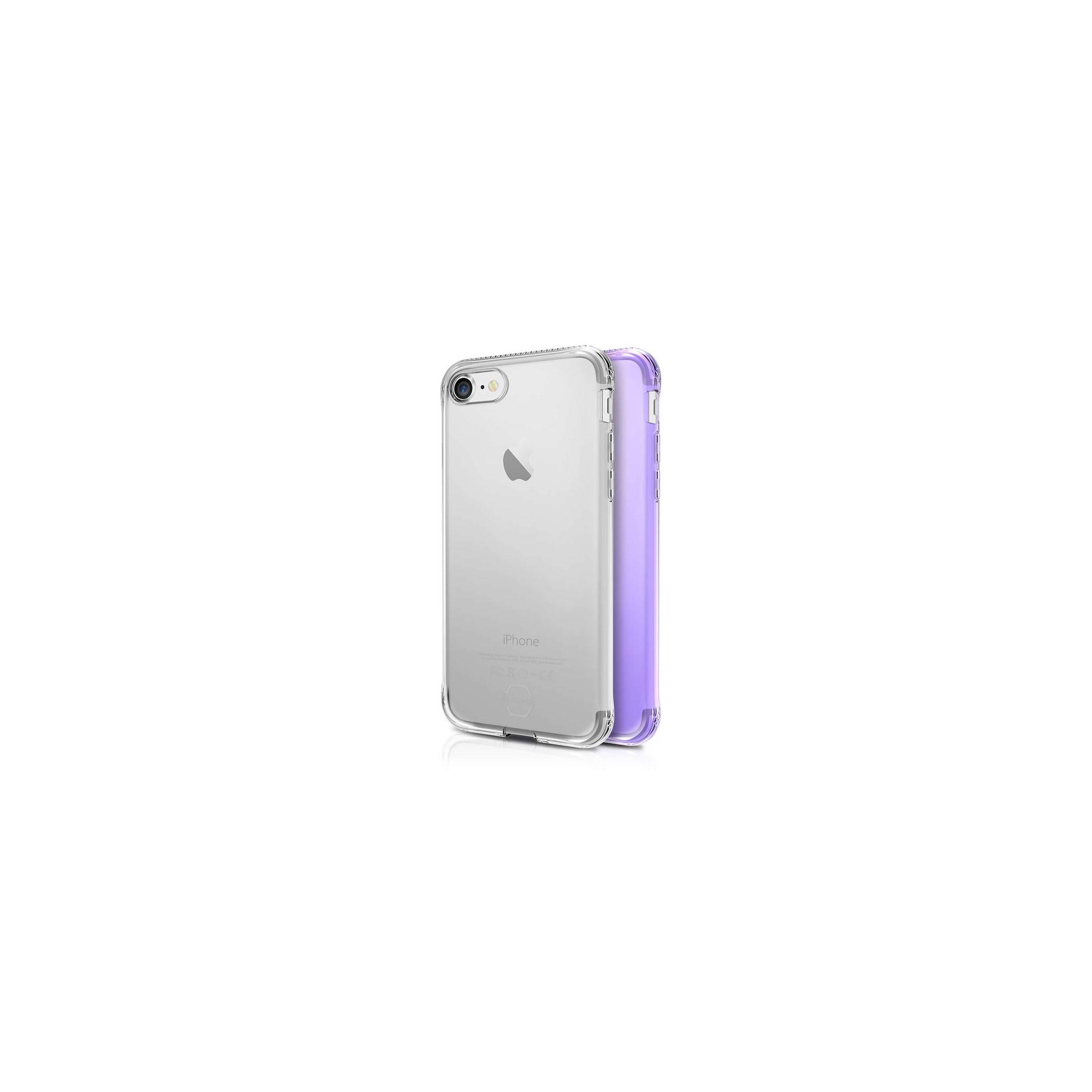 itskins – Itskins slim silikone protect gel iphone 6, 6s, 7 & 8 plus cover dobbelt 2x pakke farve klar & lyse lilla fra mackabler.dk