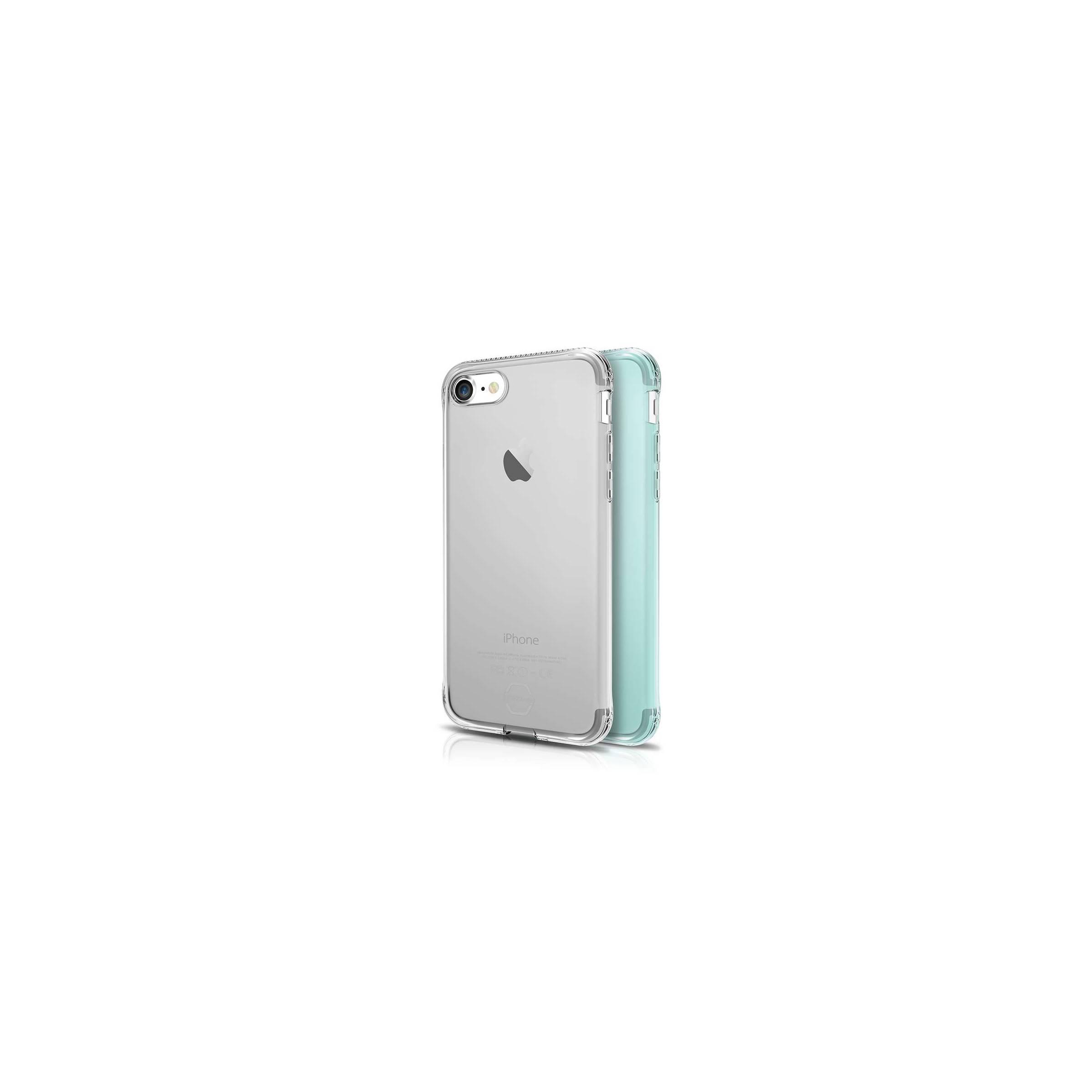 itskins Itskins slim silikone protect gel iphone 7 & 8 plus cover dobbelt 2x pakke farve klar & grøn på mackabler.dk