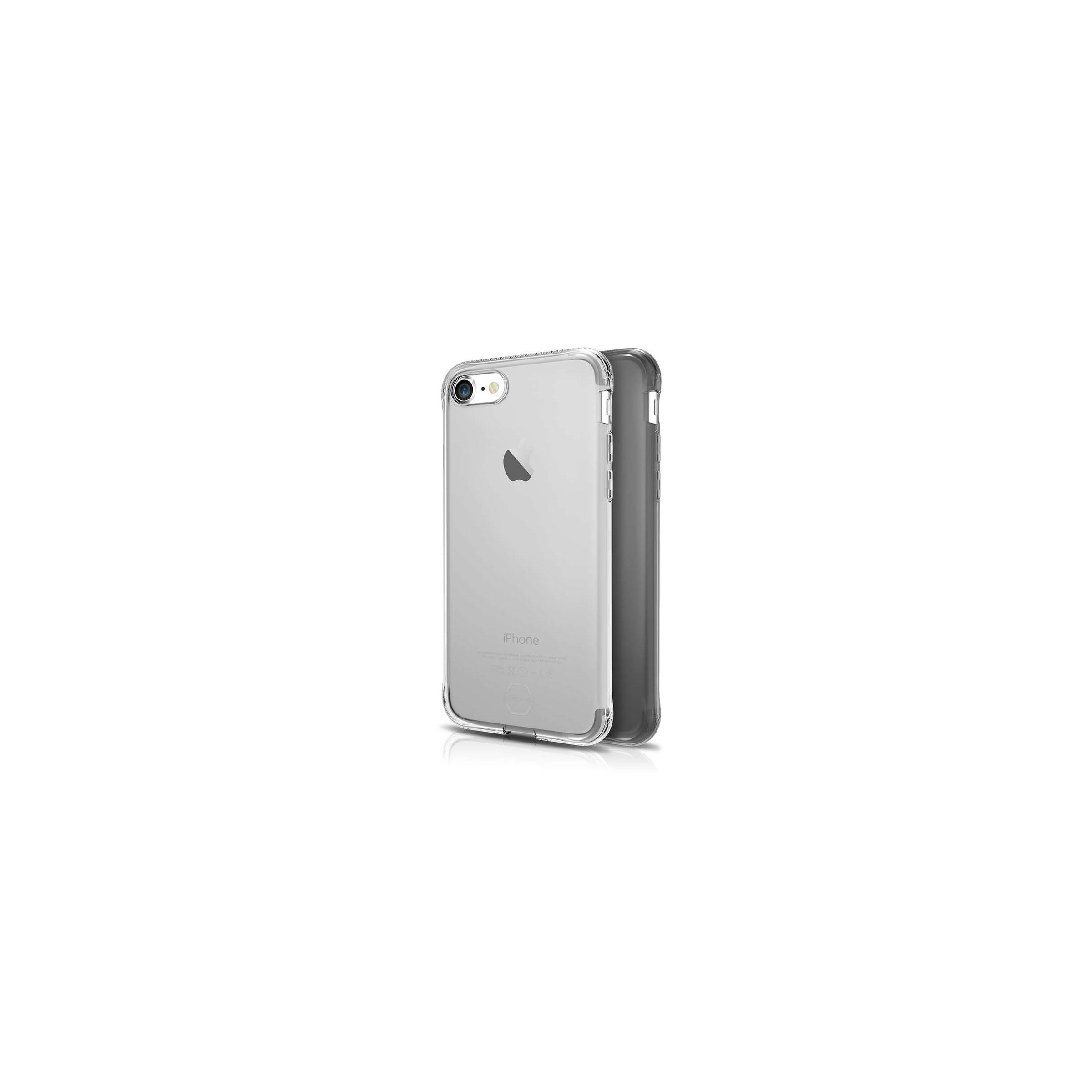 Itskins slim silikone protect gel iphone 7 & 8 plus cover dobbelt 2x pakke farve klar & sort fra itskins på mackabler.dk