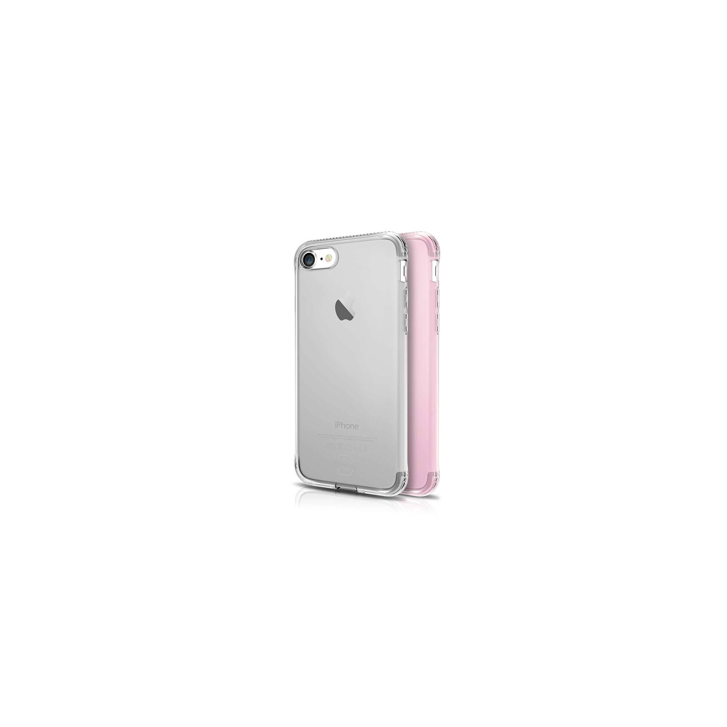itskins Itskins slim silikone protect gel iphone 7 & 8 cover dobbelt 2x pakke farve klar & lyse rød fra mackabler.dk